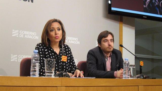 Mayte Pérez y Nacho Escuín, responsables de Cultura de Aragón