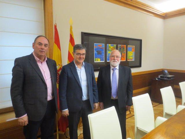 Vicente Guillén con Carlos Abad Roméu y Benito Ros