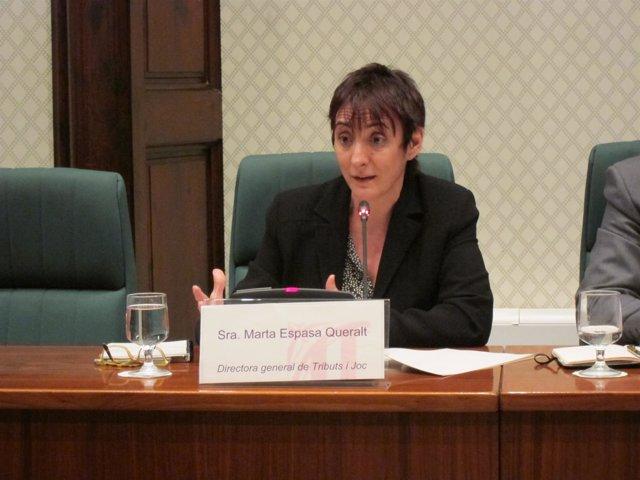 La Directora General De Tributos Y Juego De La Generalitat, Marta Espasa