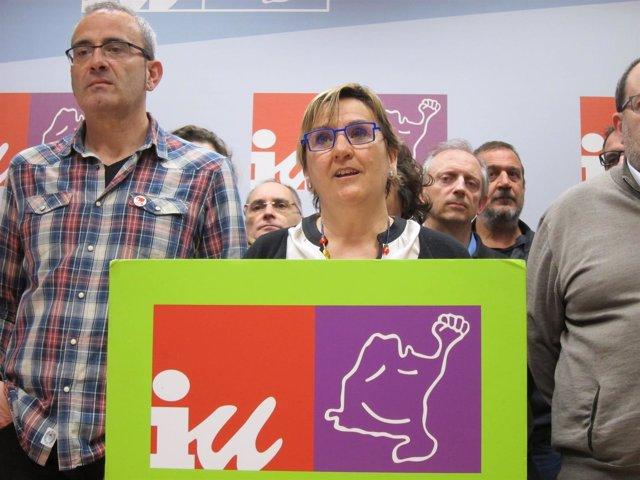 Marisa de Simón presenta su candidatura a coordinadora general de IU Navarra