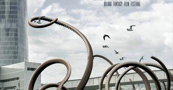 Bilboko Itsasadarretik irteten den kraken erraldoia, FANT 23ren irudia