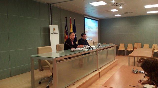 El conseller Negueruela y el director General Llorenç Pou