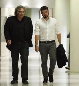 Joan Tardà y Gabriel Rufián, diputados de Esquerra