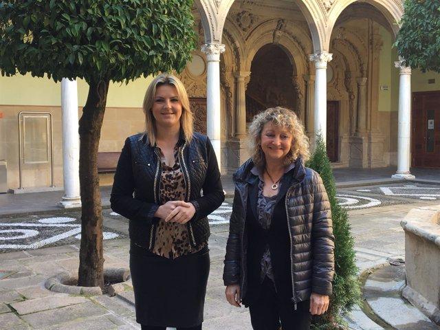 Dolores Marín y Mª Ángeles Peinado