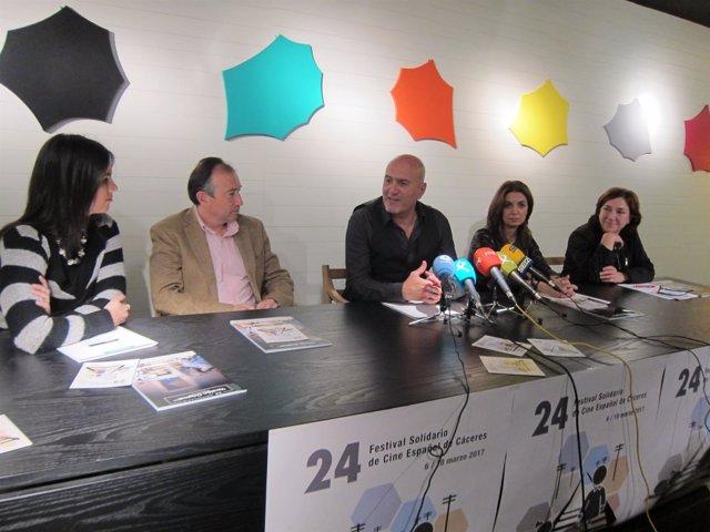 Presentación del 24 Festival Solidario de Cine Español de Cáceres