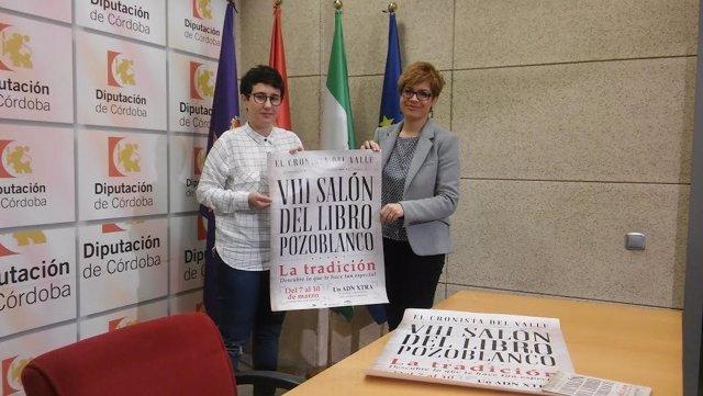 Ruz (dcha.) y Rossi, durante la preseentación del Salón del Libro de Pozoblanco