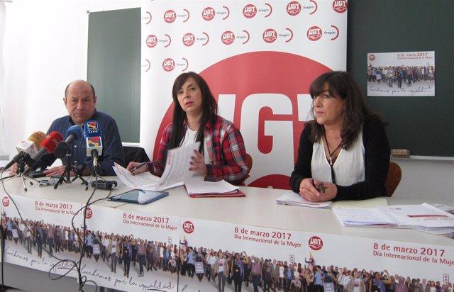 Alastuey, Antoñanzas y Huerta han presentado hoy el informe de UGT