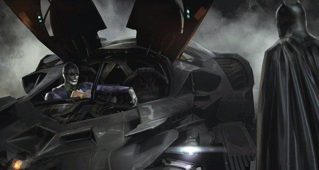 Batman Joker concept art Escuadrón Suicida