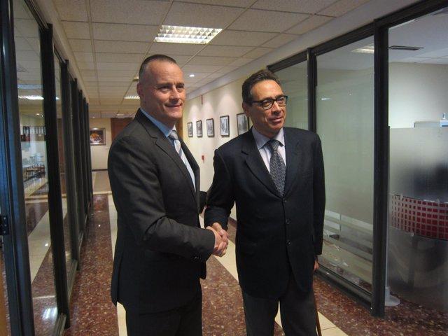 Reunión de Jorge Cebreiros y Antón Arias