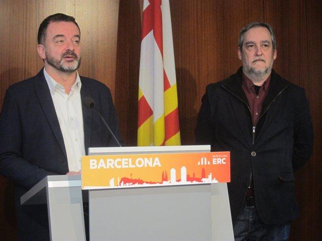 Los concejales de ERC en Barcelona Alfred Bosch y Jordi Coronas