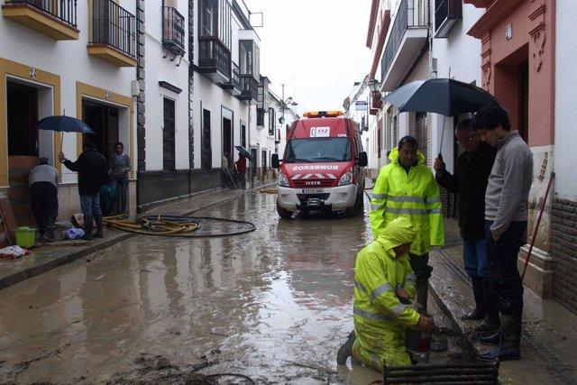 Inundaciones en Écija
