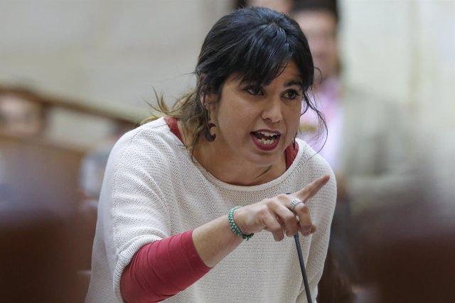 Teresa Rodríguez pregunta a Susana Díaz en el Parlamento andaluz