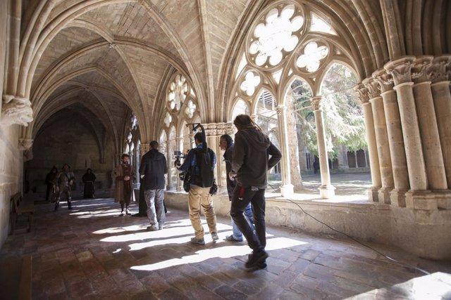 Rodaje de la serie 'Conquistadores' en el Monasterio de Veruela
