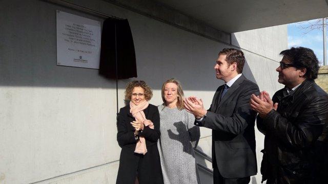 Inauguración de la escuela Josefina Ibáñez de Abrera con M.Ruiz y J.Naharro