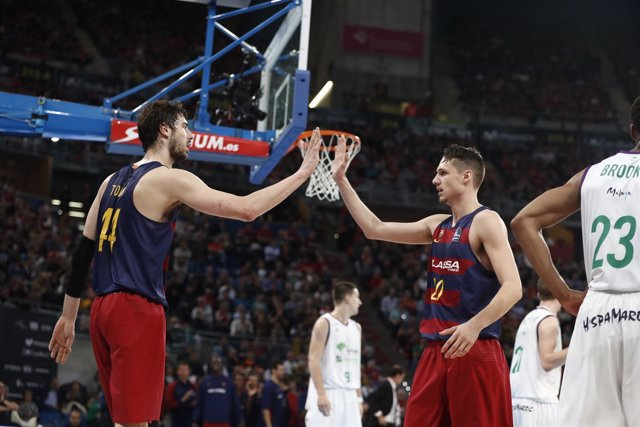 Tomic y Eriksson en el Barcelona - Unicaja