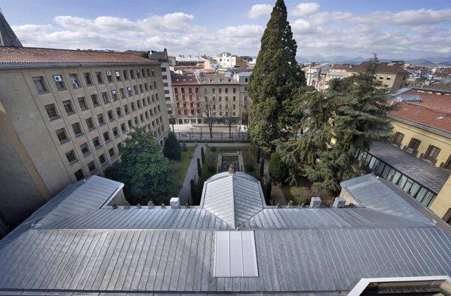 Vista general de la nueva cubierta del antiguo Archivo