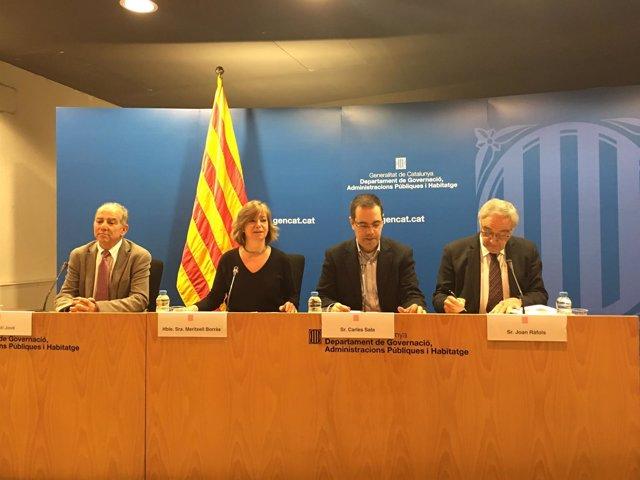Agustí Jové, Meritxell Borràs, Carles Sala y Joan Ràfols