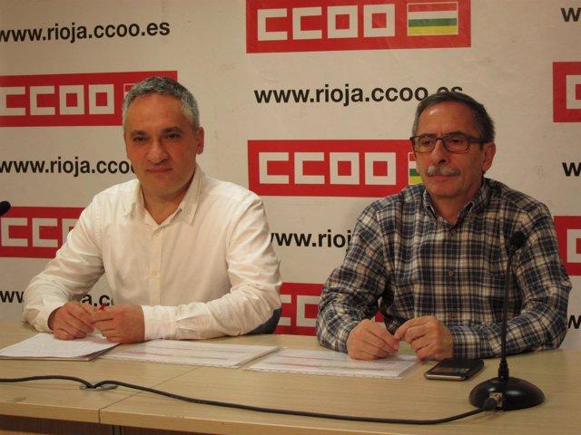 Ruano y Gorriz de CCOO analizan negociación colectiva