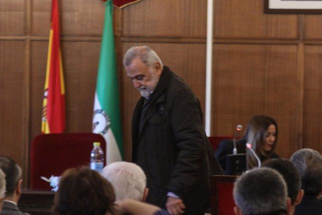 Antonio Rodrigo Torrijos (IU) en el juicio por los suelos de Mercasevilla