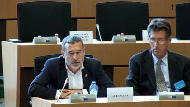 El vicepresidente Miguel Laparra en el Parlamento Europeo