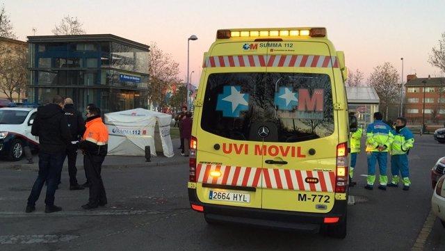 Ambulancia en suceso de Getafe