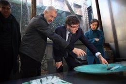 Visita del pte.C.Puigdemont al estudio RCR