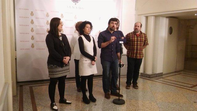 Rueda de prensa de Ramón Espinar, de Podemos, en el Senado
