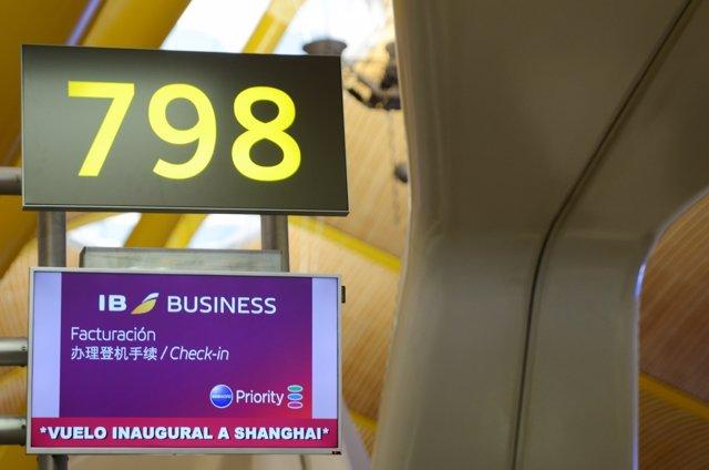 Terminal de Iberia, aeropuerto de Barajas, T4,  facturación
