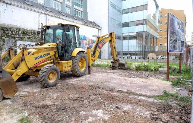 Inicio de las obras de un edificio de viviendas en Peña Herbosa
