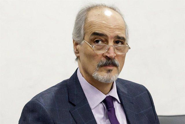 El jefe de la delegación negociadora siria, Bashar Jaafari