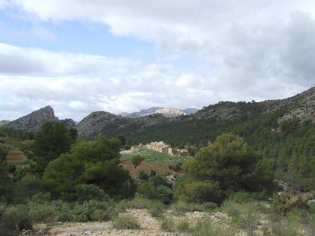 Aldea de Malvariche, en el Parque Regional de Sierra Espuña