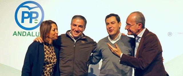 Navarro, Bendodo, De la Torre y Moreno PP-A PP Málaga populares acto afiliados