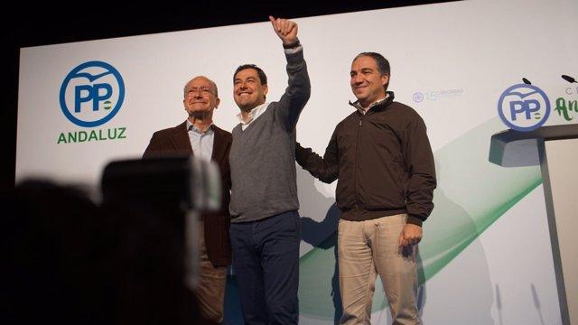 De la Torre, Moreno, Bendodo PP acto afiliado málaga