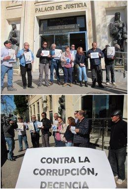 Imagen de los convocantes de la manifestación