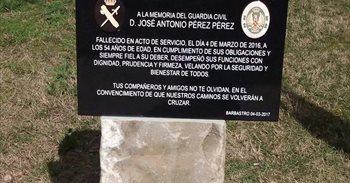 Homenaje al guardia civil José Antonio Pérez en el primer aniversario de...