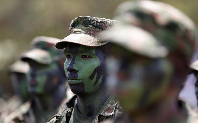 Soldados FARC en Colombia,