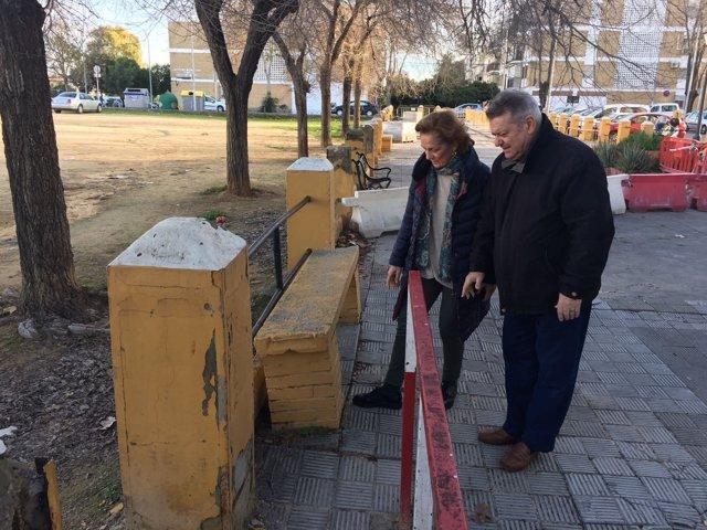 La edil del PP Dolores de Pablo-Blanco alerta de desperfectos en Bellavista