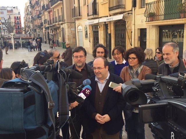 El primer secretario del PSC, Miquel Iceta, en Tarragona.