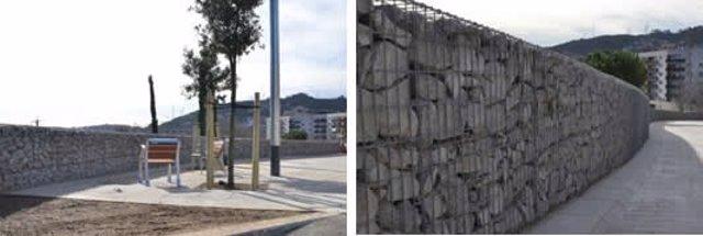 Renovación de la calle Oristà, en el distrito barcelonés de Nou Barris.