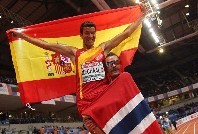 Adel Mechaal Henrik Ingebrigtsen campeón Europa 3000 metros