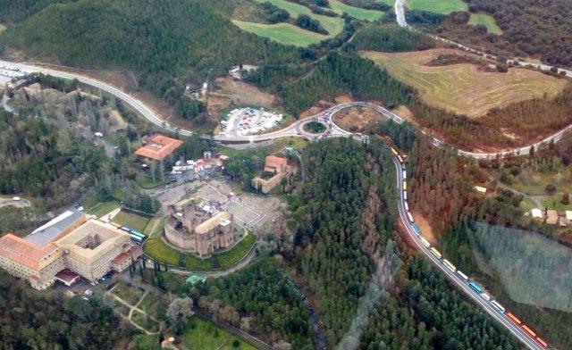 Vista aérea del Castillo de Javier