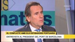 Cambra (Port de Barcelona) confia que la negociació eviti la vaga d'estibadors (Europa Press)