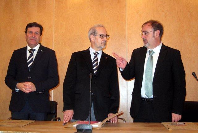 SALAMANCA. De izquierda a derecha, Carriedo, Hernández y Rey
