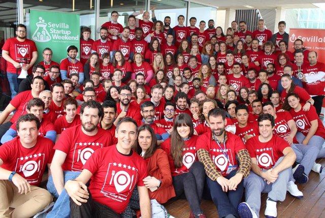 Participantes en el tercer Sevilla Startup Weekend de Turismo y Gastronomía
