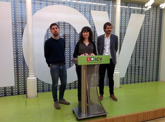 David Cid, Cristina Bigordà y Ernest Urtasun
