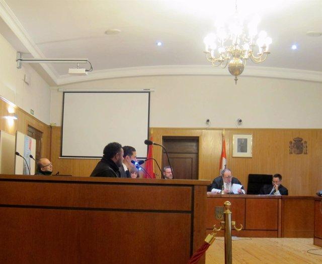 El acusado, durante el juicio en la Audiencia de Valladolid.