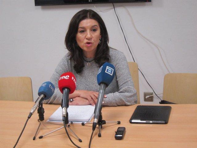 La precandidata a la Presdiencia del PP de Asturias, Carmen Rodríguez Maniega.
