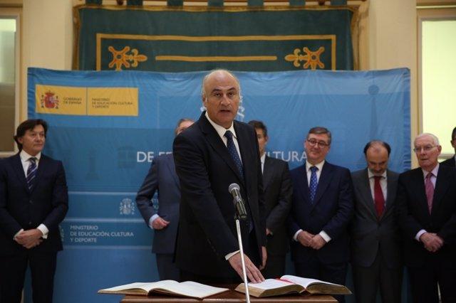Toma de posesión de Fernando Benzo, secretario de Estado de Cultura