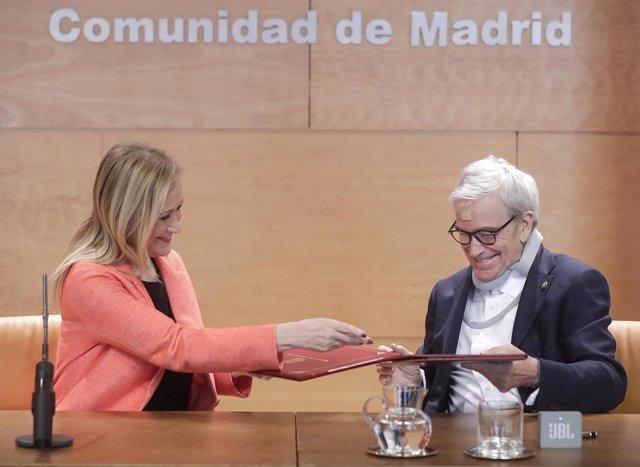 CIFUENTES FIRMA UN CONVENIO MARCO DE COLABORACIÓN CON LA FUNDACIÓN FRANCISCO LUZ