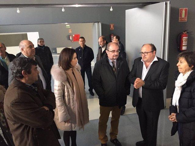 El presidente Javier Lambán visita las Cinco Villas.